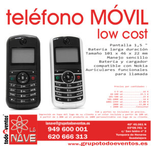 TELEFONO MOVIL LOW COST by TODOEVENTOS