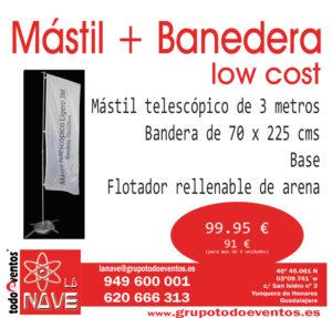 mástil + bandera  LOW COST by TODOEVENTOS