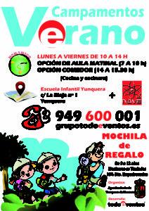 CARTEL CAMPAMENTOS VERANO 2015 YUNQUERA DE HENARES  redes