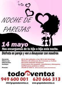 NOCHE DE PAREJAS 14 mayo  by TODOEVENTOS